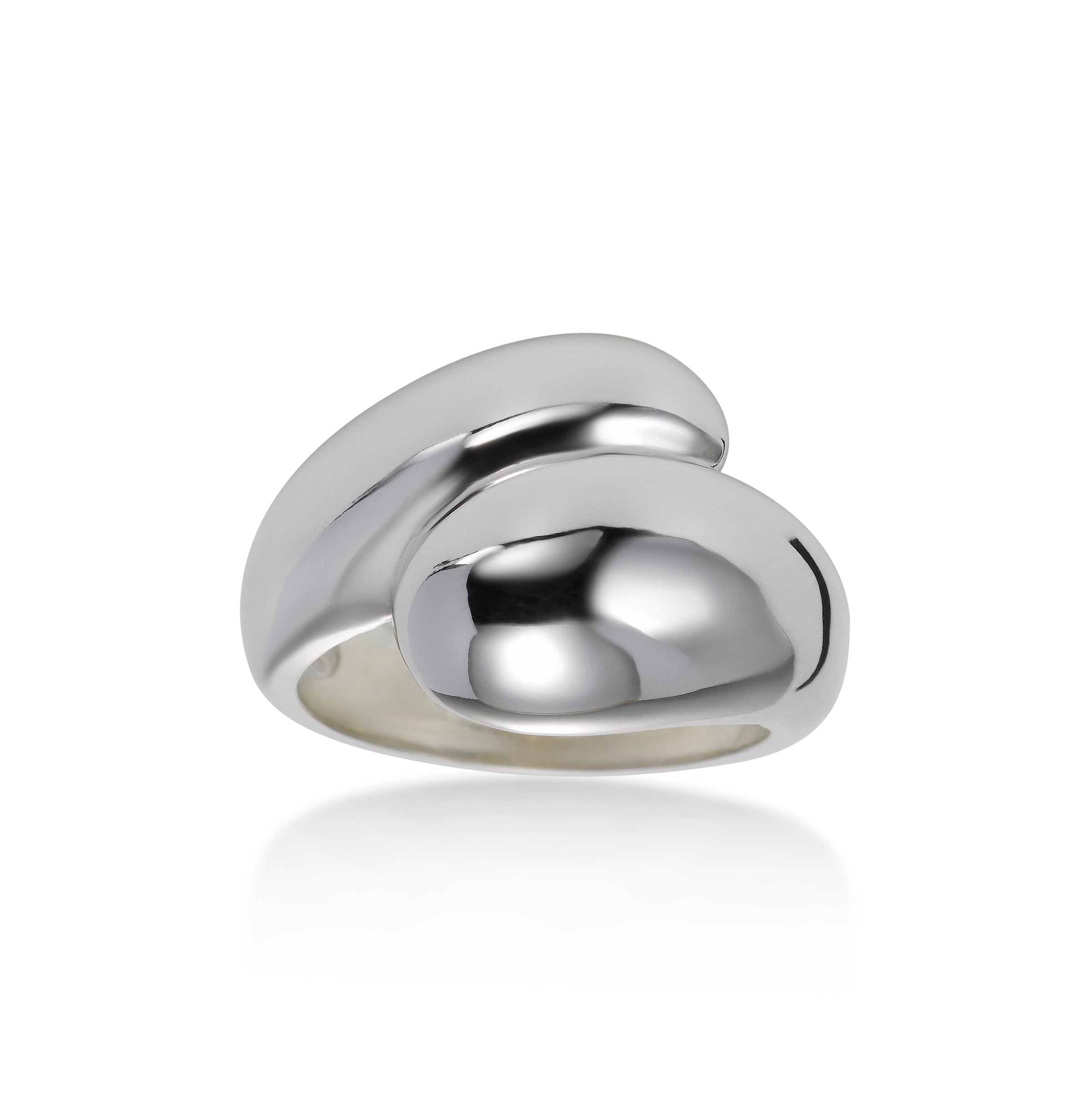 Bold Bypass Ring, Sterling Silver