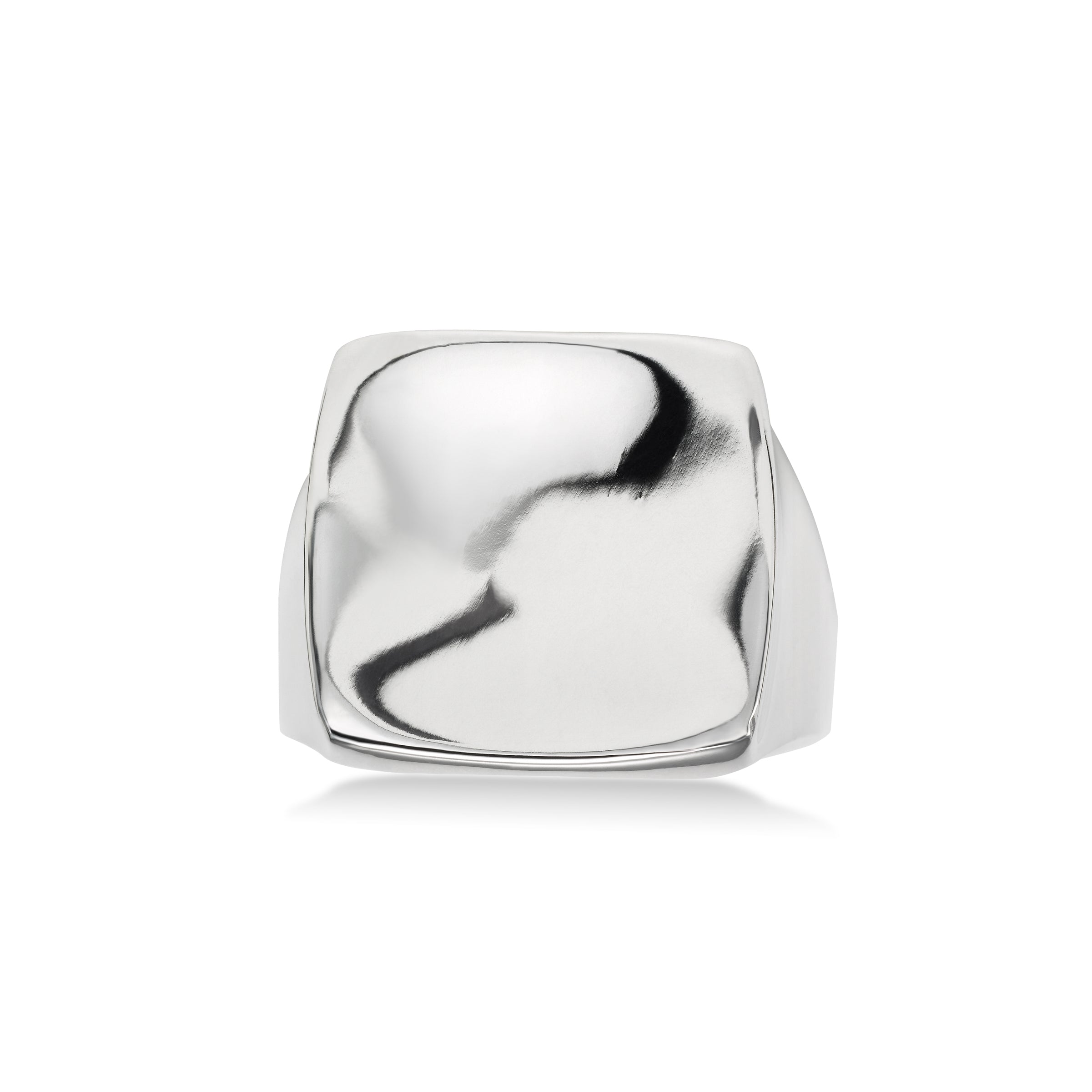 Cushion Shape Ring, Sterling Silver