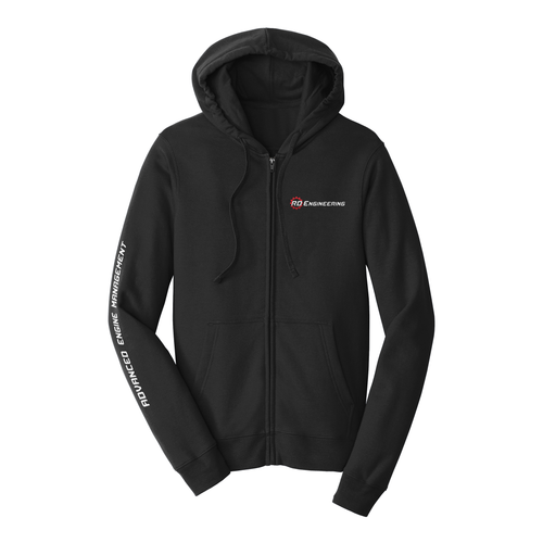 RD Engineering Logo ZipUp Hoodie - Black