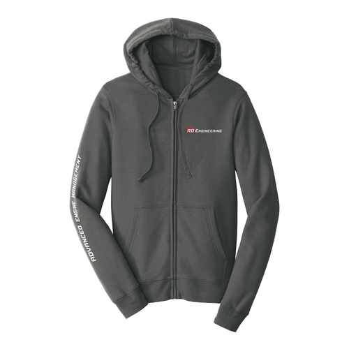 RD Engineering Logo ZipUp Hoodie - Grey