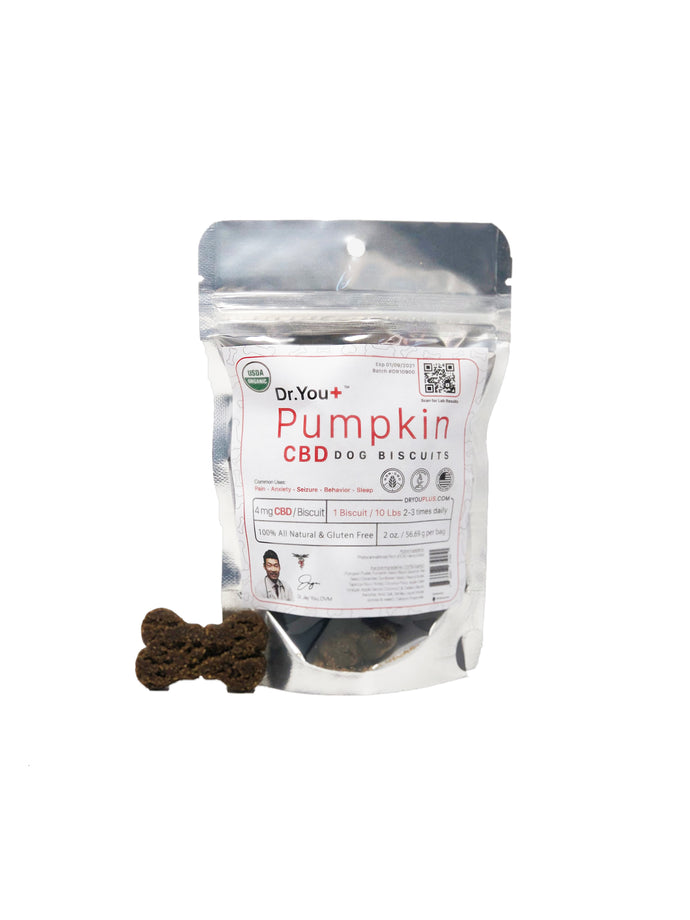 Dr. You+ CBD Pumpkin Dog Biscuit Treats