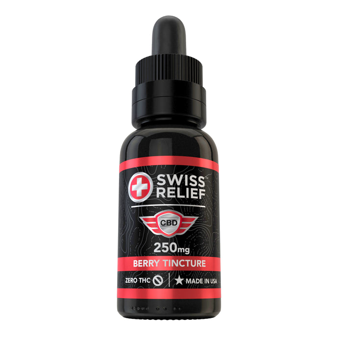 Swiss Relief – Berry Flavored CBD Tincture 250MG