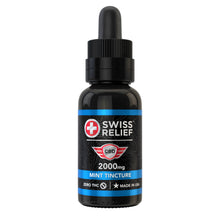 Load image into Gallery viewer, Swiss Relief – Mint Flavored CBD Tincture 2000MG