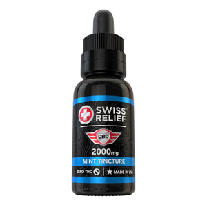 Swiss Relief – Mint Flavored CBD Tincture 2000MG