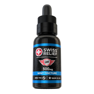 Swiss Relief – Mint Flavored CBD Tincture 500MG