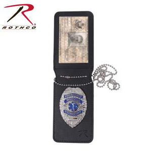 Rothco Universal Leather Badge & ID Holder