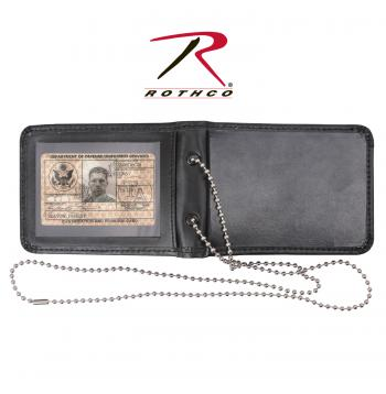 Rothco Leather Neck Identification Holder