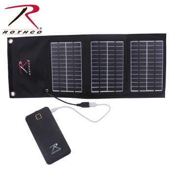 Rothco MOLLE Solar Panel With Power Bank