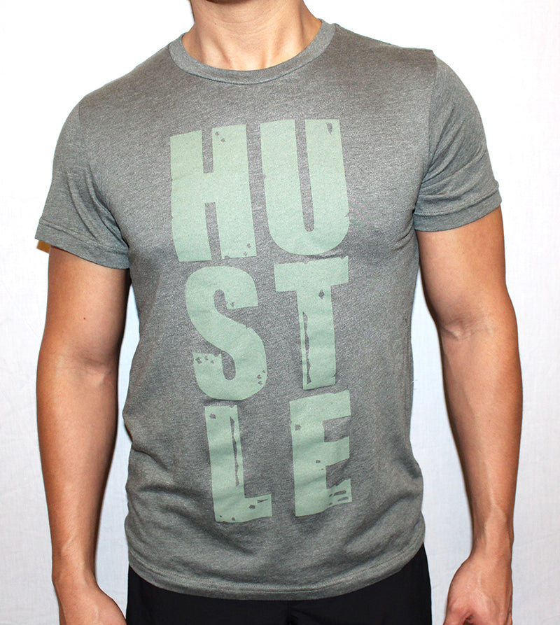 UNISEX STACKED HUSTLE TEE