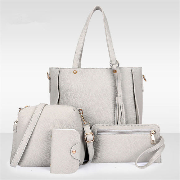 WOMEN FAUX LEATHER HANDBAG SET