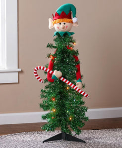 SS-Festive Character Lighted Christmas Trees