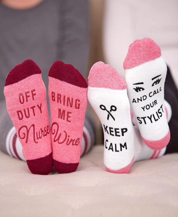 SS-Occupational 3 Pair Novelty Slipper Socks
