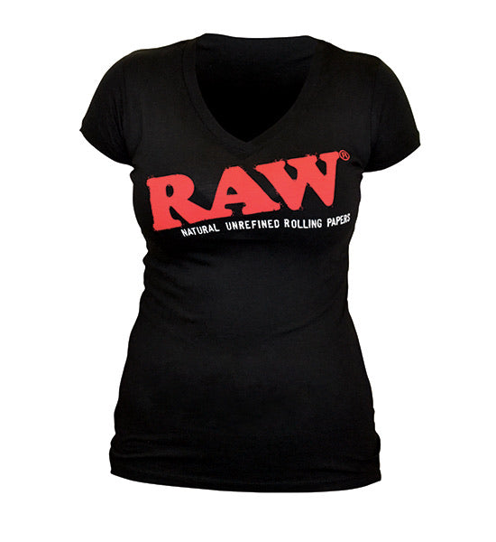 RAW LADIES BLACK T-SHIRT