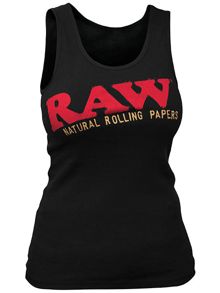 RAW®️ LADIES BABY RIB BLACK TANK