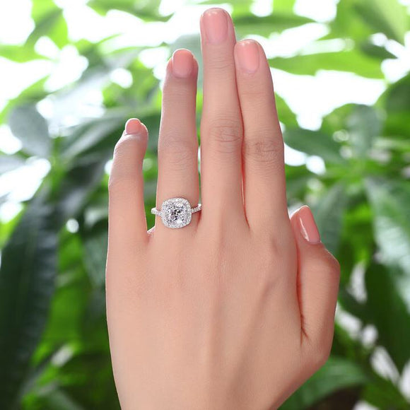 SS-Solid 925 Sterling Silver Bridal ring