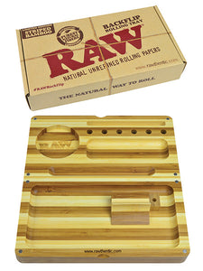 RAW BAMBOO FLIP TRAY WITH MAGNET STRIPED