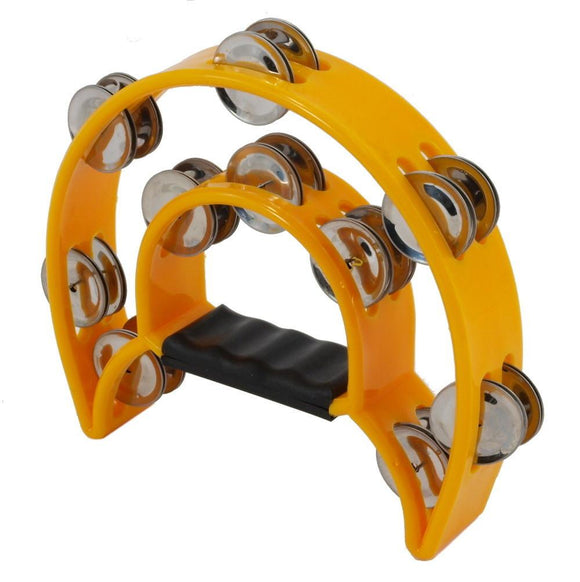 SS-Yellow Double Row Tambourine