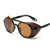 Fashion Leather Decorative Punk Sunglasses