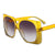 Fashion Square Frame Reflective Sunglasses