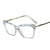 Retro Transparent Multi-cut Crystal Glasses Frame