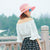 Women's Straw Hat Bowknot Ribbon