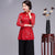 Red Lace Chinese Style Female Shirt