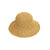 Wide Wave Brim Folded Outdoor Raffia  Straw hat