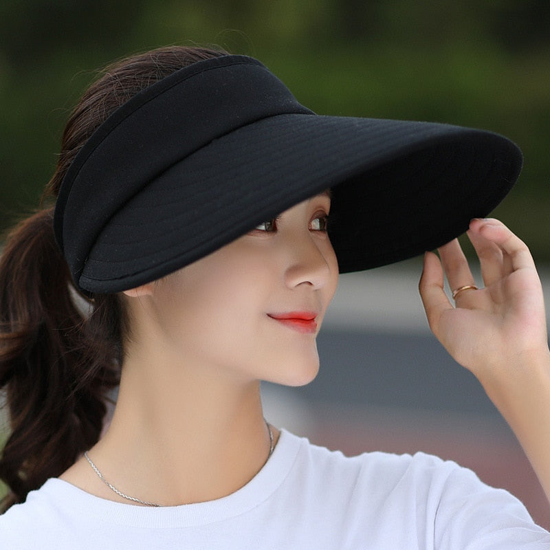 ac88c6dd4 Pearl Packable Sun Visor Hat With Big Heads Wide Brim