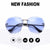 Luxury Vintage Rimless Sunglasses, Oversized Sunglasses,UV400