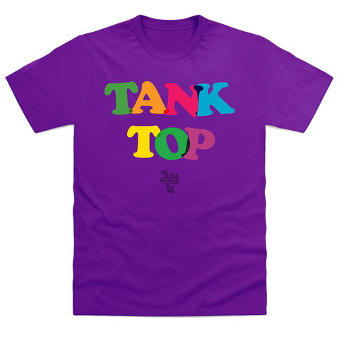 Purple Tank Top Logo T-Shirt