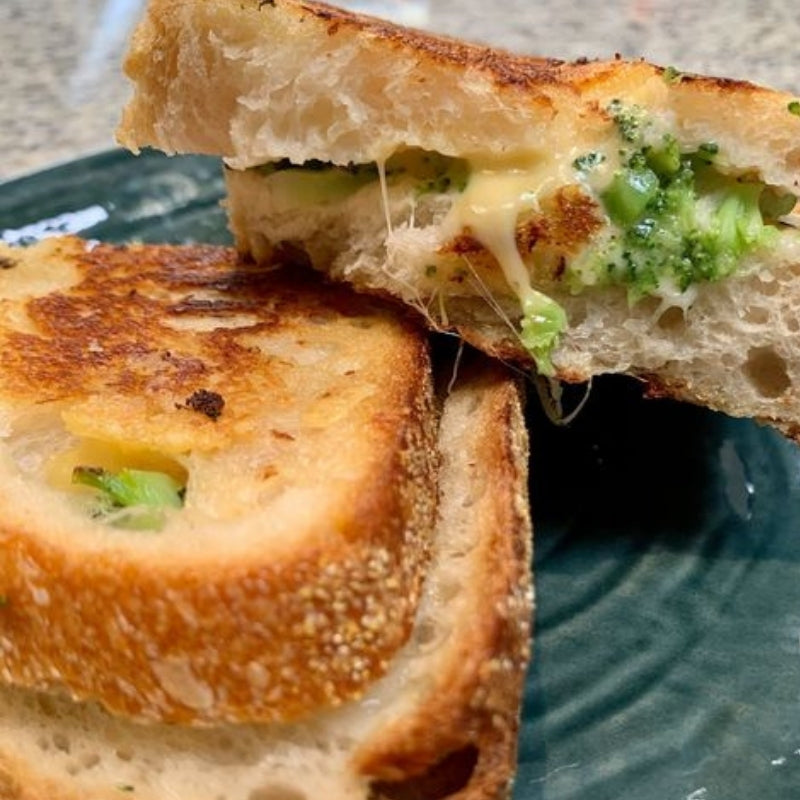 Broccoli Gouda Grilled Cheese