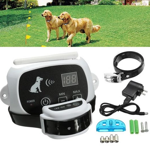 Image of Waterproof Electric Wireless Dog Fence With Collar