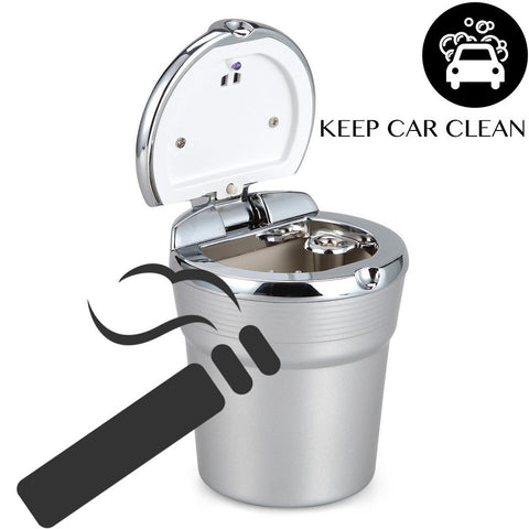 Image of Portable Stainless Car LED Light Ashtray
