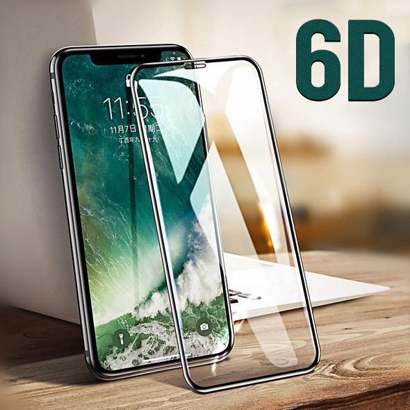6D Curved Full Cover Tempered Glass Screen Protector Film For iPhone