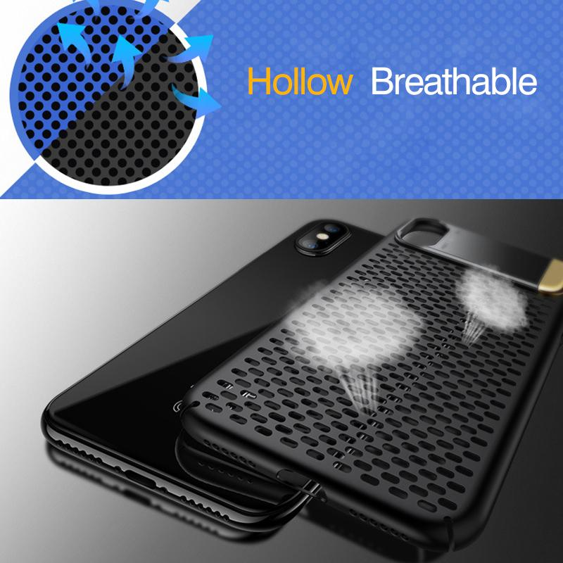 Ultra Thin Breathable Premium Case with Stand for iPhone