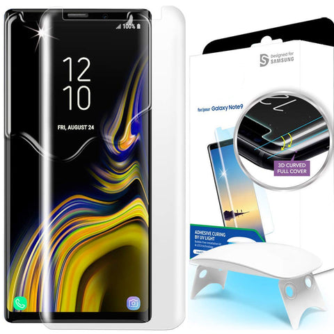 New Technology - Liquid UV 3D Full Coverage Tempered Glass Screen Protector for Samsung