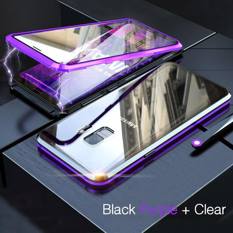 Magnetic Adsorption Two Side Glass Case for Samsung Galaxy