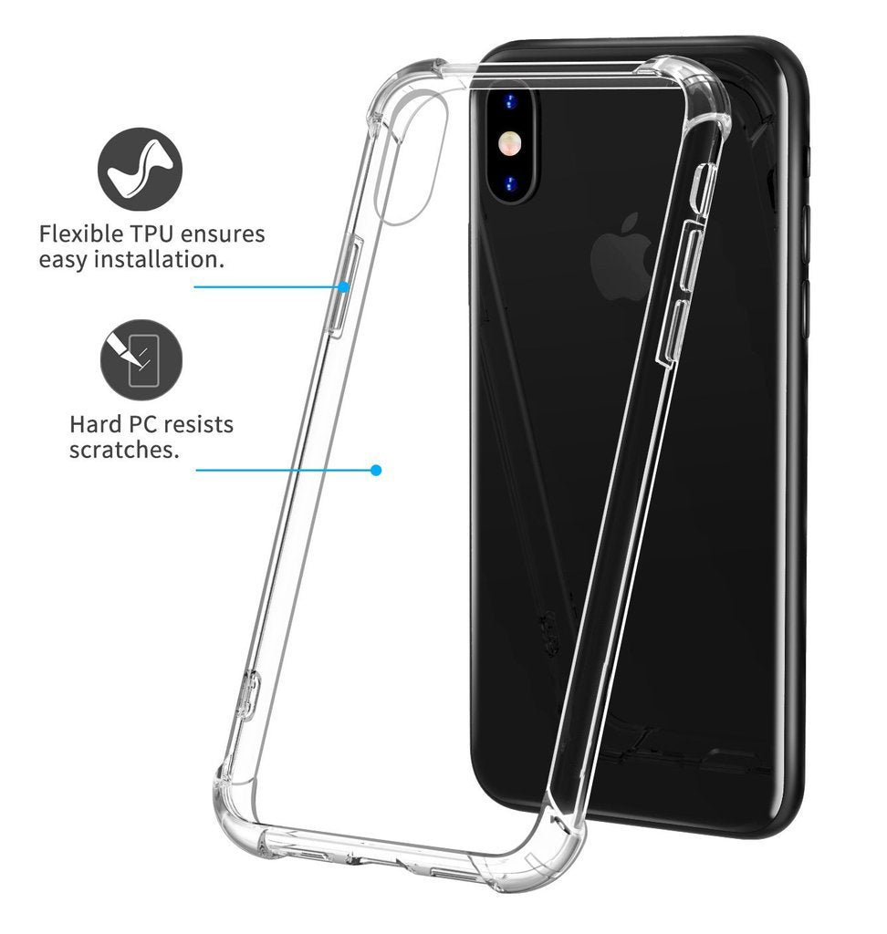 Transparent TPU 360° Bumper Protective Case for iPhone