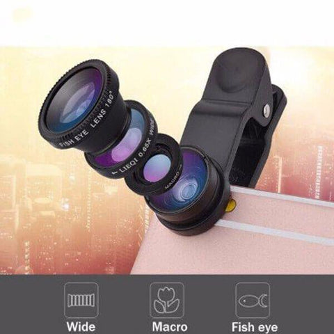 Image of 3 in 1 Universal Mobile Phone Fisheye Lens