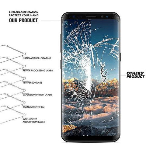 Image of Case Friendly 3D Curved Tempered Glass Protector for Samsung Galaxy