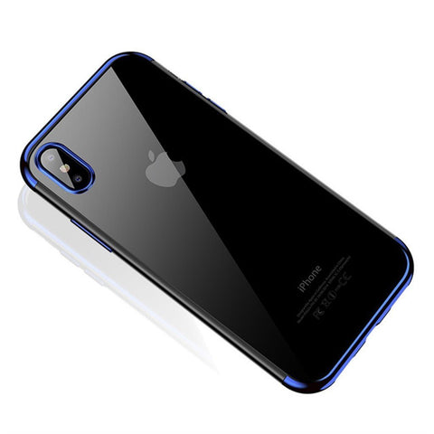 Image of Shockproof Plating Clear Slim Case For iPhone