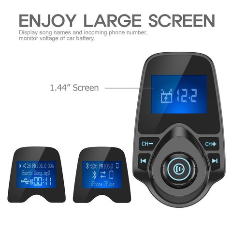 Image of Wireless In-Car Bluetooth FM Transmitter Radio Adapter