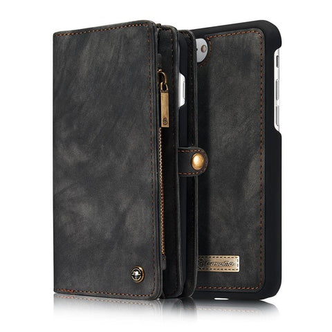 Image of Removable Leather Wallet Flip Stand Card Slot Case For iPhone
