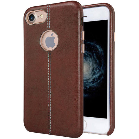 Image of Luxury Ultra-Thin Leather Back Case For iPhone
