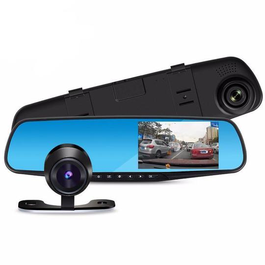 Dual Lens Dash Cam Vehicle Front Rear HD 1080 P Video Recorder