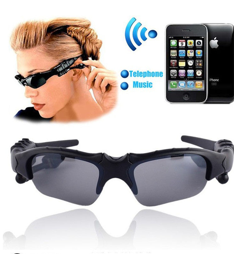 Wireless Bluetooth Headset Headphone Sunglasses with Stereo Handsfree for iPhone Samsung Galaxy HTC LG