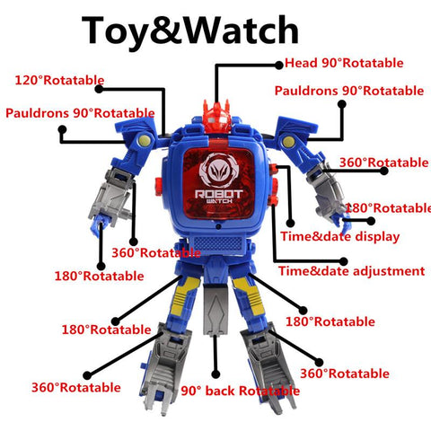 Image of LED Transformation Robot Wristwatch