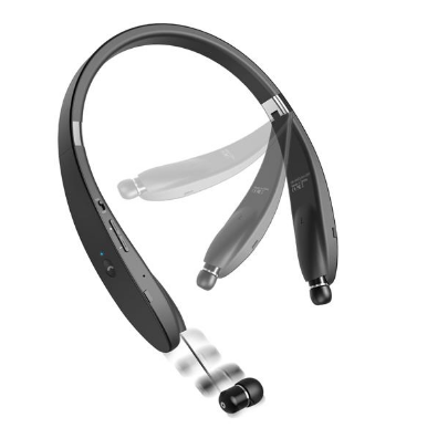 Image of Galaxy View Neckband HiFi Sound Wireless Headset with Retracting Earbuds
