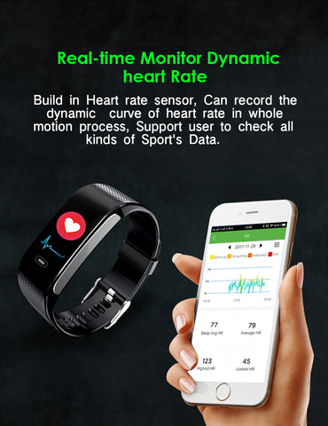Image of Blood Pressure Smartwatch – Heart Rate Monitor Wrist Watch