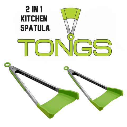 Image of 2 in 1 Kitchen Spatula & Tong